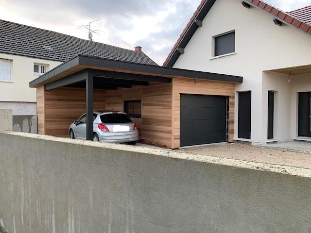 Extension ossature bois | Carport double